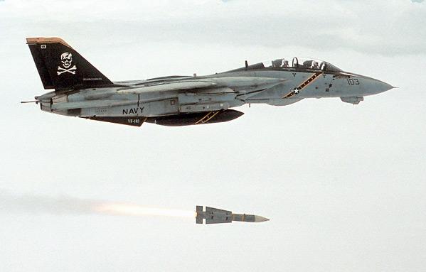 F-14 пуск Aim-54 Феникс