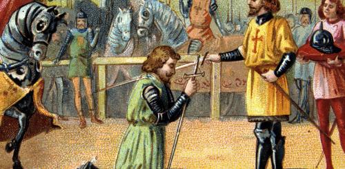 accolade посвящение в рыцари